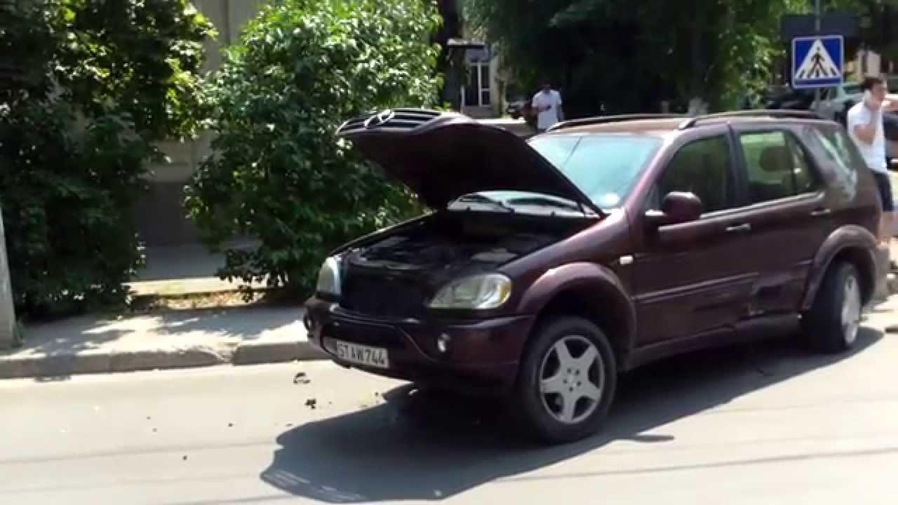 Accident stupid, dar violent în centrul capitalei