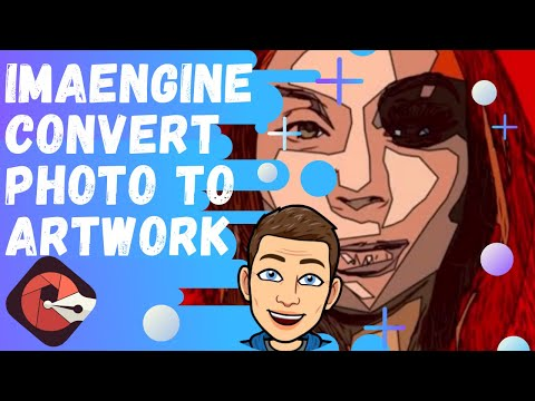 How To Use Imaengine App Convert Photos Into Vector Art Or Drawing Youtube