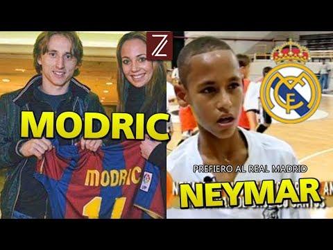 5 Jugadores del Madrid y Barca que apoyaron al otro club | Neymar, Modric...