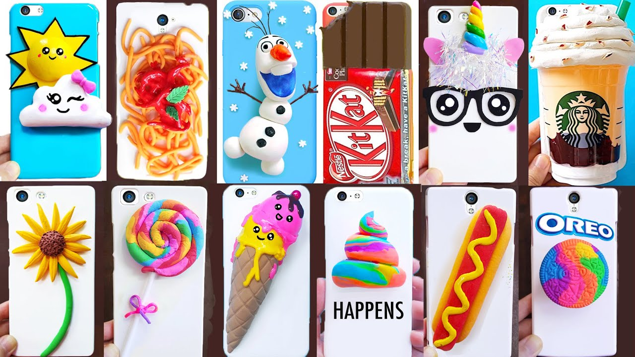 DIY PHONE CASES with CLAY | Easy & Cute Phone Projects & iPhone Hacks