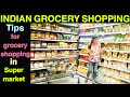 Indian Budget Grocery Shopping  | Tips to save Money | Grocery shopping hacks.