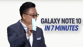 Galaxy Note 10+ announcement in 7 minutes