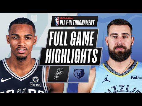 Memphis Grizzlies hang on to defeat San Antonio Spurs, advance in ...
