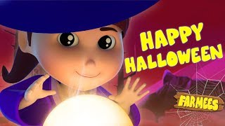 There's a scary pumpkin halloween songs scary rhymes for children baby videos  by farmees s02e4254