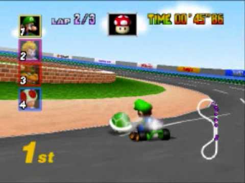 Mario Kart 64 Mushroom Cup Luigi Raceway Youtube