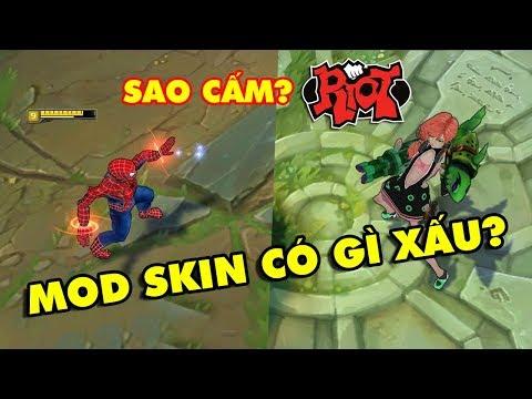 Game thủ LMHT Việt tranh cãi nảy lửa việc Riot Games cấm MOD SKIN - Tự sướng cũng không cho?