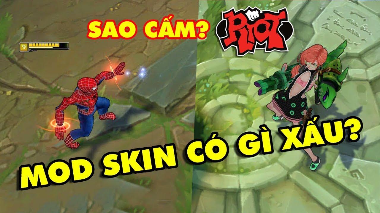 Game thủ LMHT Việt tranh cãi nảy lửa việc Riot Games cấm MOD SKIN – Tự sướng cũng không cho?