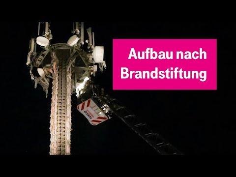Social Media Post: Nach Brandstiftung: Aufbau des Mobilfunk-Ersatzstandorts Mammendorf