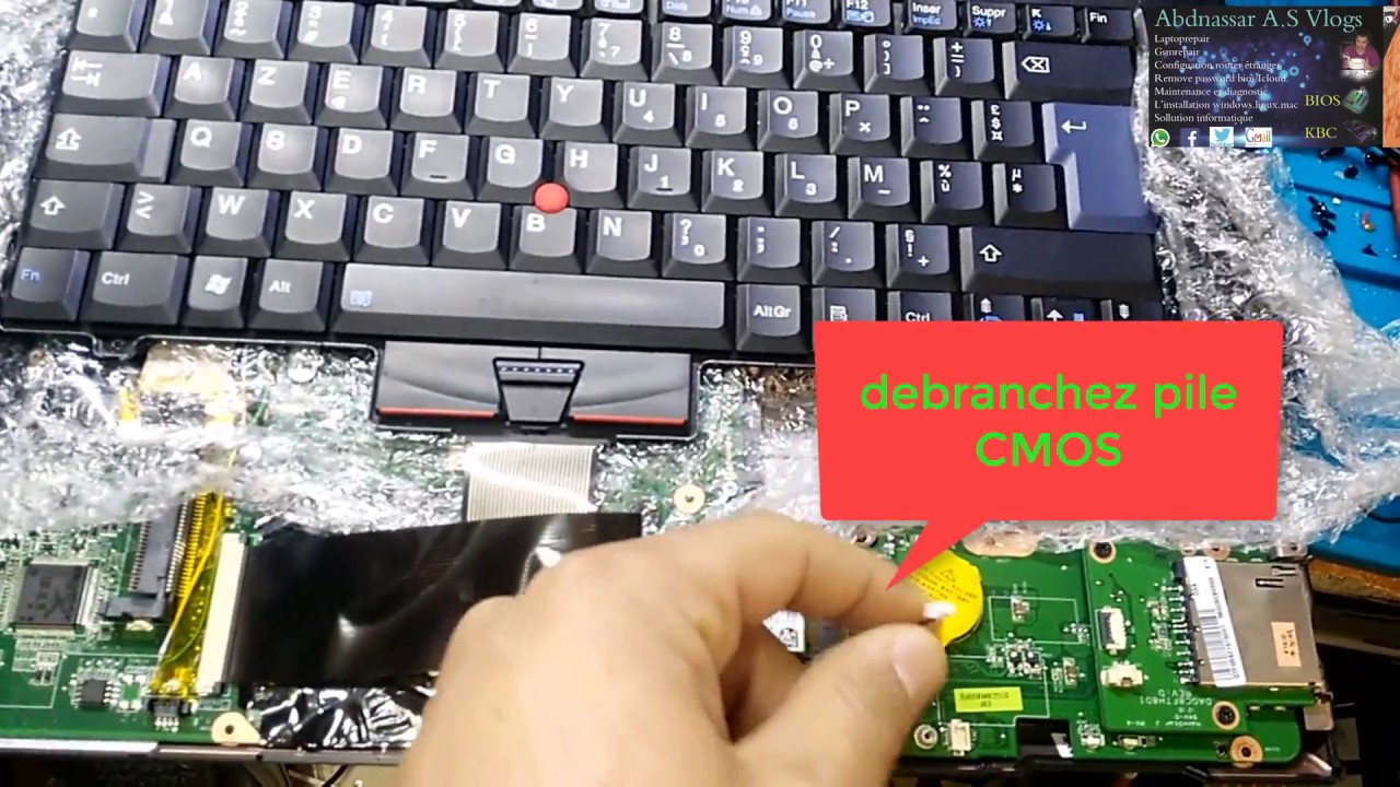 remove Supervisor password from Lenovo L420 Reset bios ازالة الباسورد  الحماية