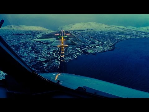 Beautiful Views Final Approach into Faroe Islands