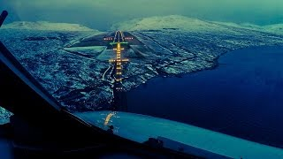 Beautiful Views Final Approach into Faroe Islands