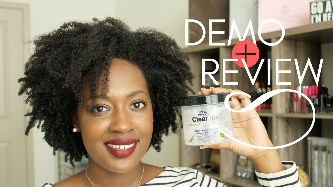 Clear Ice Coconut Oil Styling Gel Ampro Pro Styl Demo Review