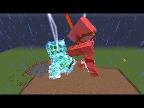 Minecraft mob battles charged creeper titan vs zombie - Minecraft zombie vs creeper ...