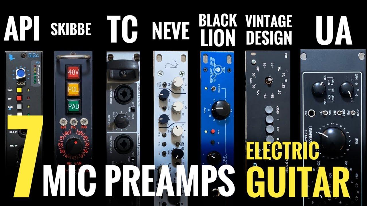 Download 7 Mic Preamps on Electric Guitar - API, UA, Rupert Neve etc!