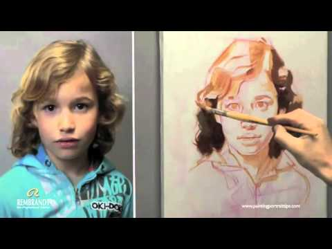 How To Paint Hair - Portrait Painting By Ben Lustenhouwer