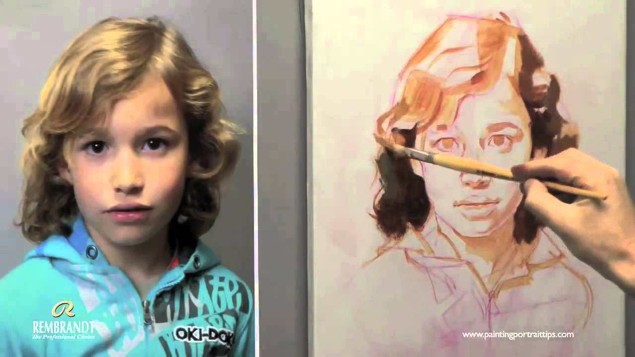 How To Paint Hair Portrait Painting By Ben Lustenhouwer Youtube