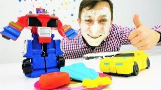Плей До и игрушки #Трансформеры, машинки! Федор устроил вечеринку для машинок.