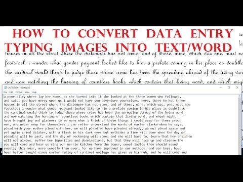 STOP Typing Data Entry Images & Convert Them With 100% ACCURACY
