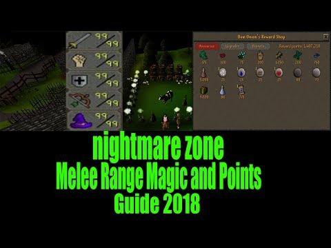 Nightmare Zone Melee Magic Range and Points guide 2018