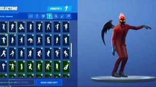 Fortnite: Skin hell with several dances there