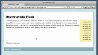 CSS Floats - Understanding & Clearing Floats Tutorial