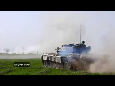 Syrian Army Tanks & Snipers in Action in Eastern Ghouta