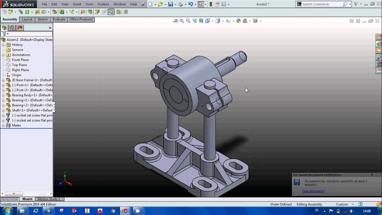 Bearing Puller Assembly Drawing : Tutorial adjustable bearing assembly solidworks
