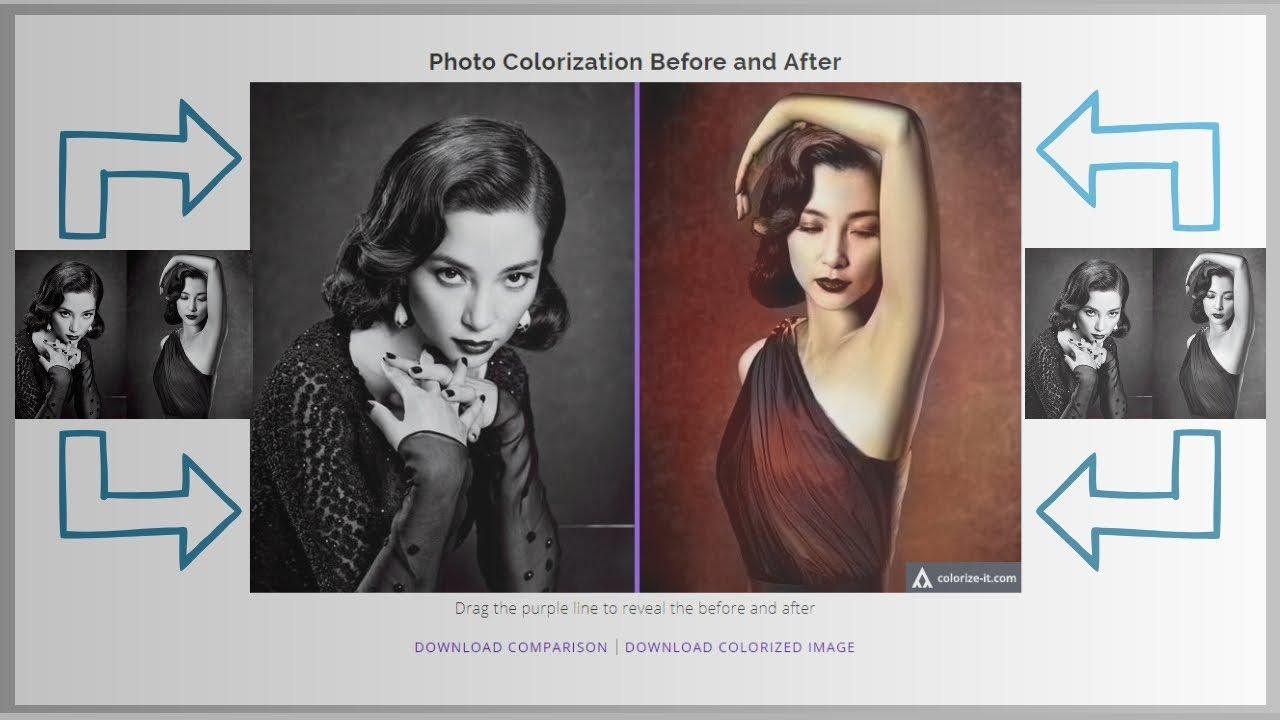 How to colour black and white photos online automatically colorization