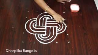 simple padi kolam designs with 5x5 dots - sravana masam muggulu - latest rangoli design 2018
