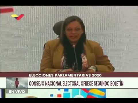 Indira Alfonzo, segundo boletín de resultados de elecciones parlamentarias este lunes a las 5 pm