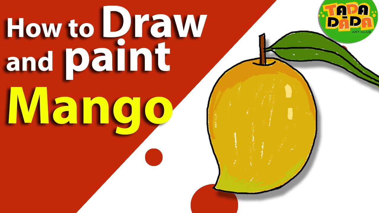 how to draw a mango fruit step by step kids drawings drawing
