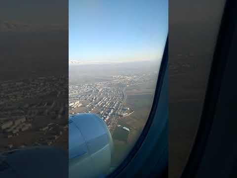 Посадка в аэропорту Звартноц. Армения