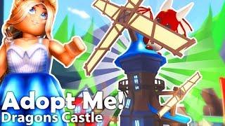 Roblox Adopt Me Dragon Castle and Chuck E Cheese Pizza