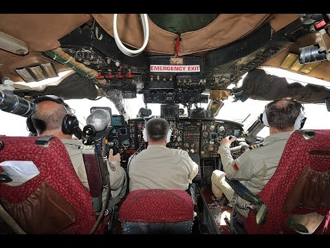 Flying the Antonov 12 with cockpit footage and cargo door lowered inflight