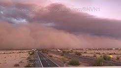 Yuma County, AZ  Massive Haboob Wall Of Dust Storm -7/9/2018