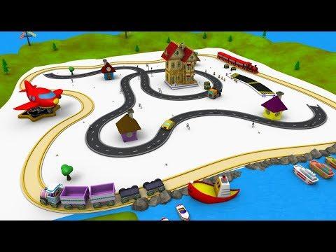 Train - Car Cartoon - Choo Choo Train - Toy Factory - Trains for Children - Trains