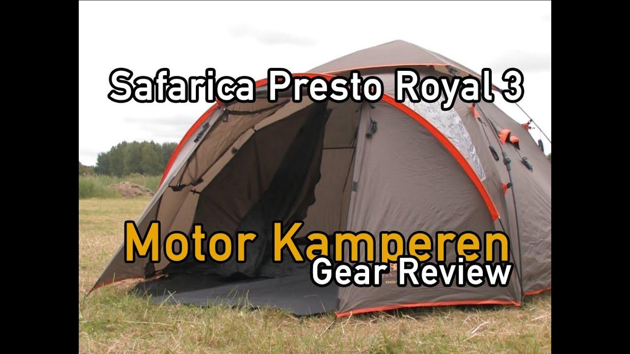 Safarica presto royal 3 review motor kamperen youtube - Tent paraplu ...
