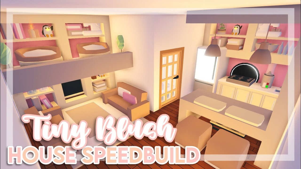 Tiny Blush House Speedbuild Adopt Me Adopt Me Speedbuild Youtube In 2020 Simple Bedroom Design Cute Room Ideas Home Roblox