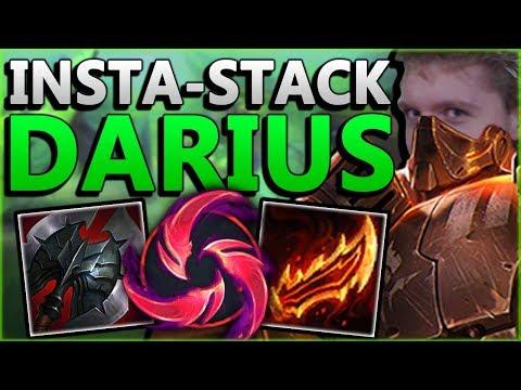 WTF! INSTANTLY STACK DARIUS PASSIVE?? INSTA-STACK DARIUS GAMEPLAY - League Of Legends