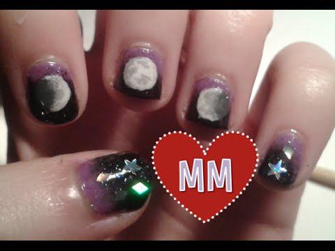 Moon Phase Nail Tutorial Short Nails