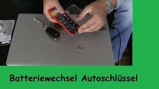 Batterie wechseln Autoschlüssel Audi