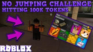 NO JUMPING CHALLENGE (ROBLOX ASSASSIN) *GETTING 100,000 TOKENS*