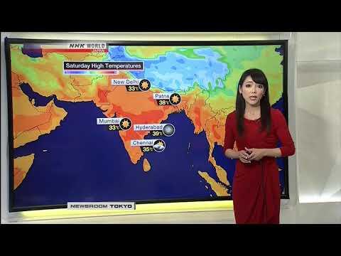 Sayaka Mori NHK World Newsroom Tokyo Weather March 23rd 2018