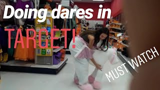 Doing dares in target !!!(funny) MUST WATCH !!!