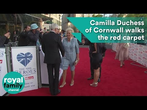 Camilla Duchess of Cornwall walks the red carpet