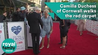 Camilla Duchess of Cornwall walks the red carpet