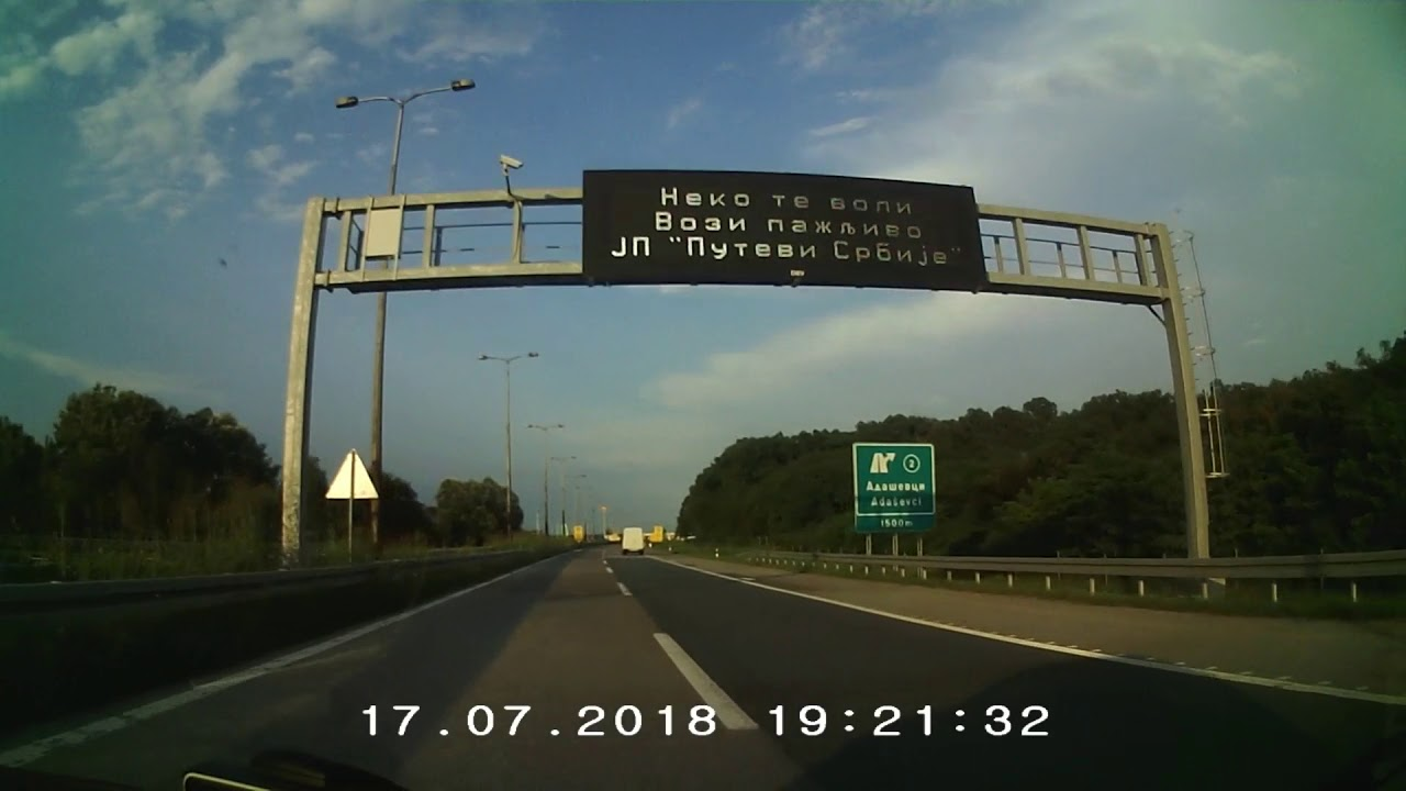 The Quality Of The Highway Zagreb Belgrade Youtube