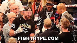TYSON FURY VS. FRANCESCO PIANETA FULL FIGHT AFTERMATH; FURY & WILDER IN-RING CONFRONTATION