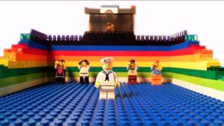 "VISIBLE FROM SPACE - ""Four Letter Word"" (LEGO stop motion animation)"
