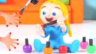 Girls Doing Her Nails ❤ Cartoons For Kids